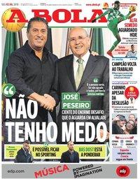 capa Jornal A Bola de 2 julho 2018