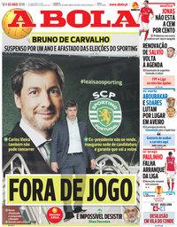 capa Jornal A Bola de 3 agosto 2018