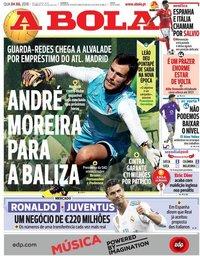 capa Jornal A Bola de 4 julho 2018