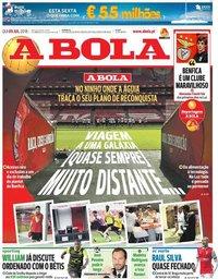 capa Jornal A Bola de 5 julho 2018