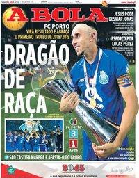 capa Jornal A Bola de 5 agosto 2018