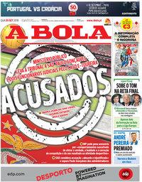 capa Jornal A Bola de 5 setembro 2018
