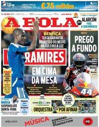 capa Jornal A Bola de 6 agosto 2018