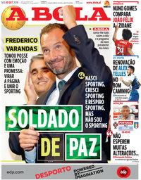 capa Jornal A Bola de 10 setembro 2018