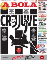 capa Jornal A Bola de 11 julho 2018