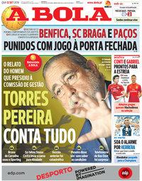 capa Jornal A Bola de 12 setembro 2018