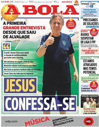 capa Jornal A Bola de 18 julho 2018