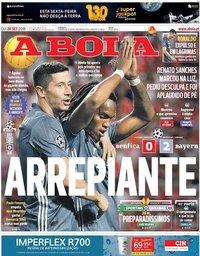 capa Jornal A Bola de 20 setembro 2018