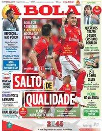 capa Jornal A Bola de 22 julho 2018