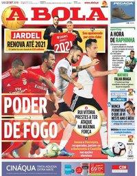 capa Jornal A Bola de 22 setembro 2018