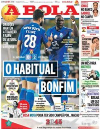 capa Jornal A Bola de 23 setembro 2018