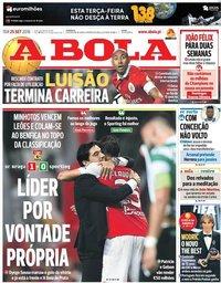 capa Jornal A Bola de 25 setembro 2018