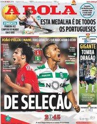 capa Jornal A Bola de 26 agosto 2018