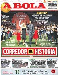 capa Jornal A Bola de 26 setembro 2018