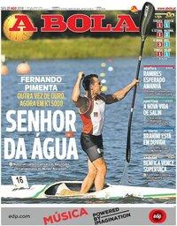capa Jornal A Bola de 27 agosto 2018