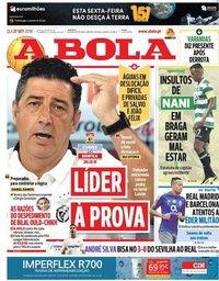 capa Jornal A Bola de 27 setembro 2018
