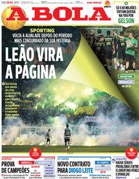 capa Jornal A Bola de 28 julho 2018
