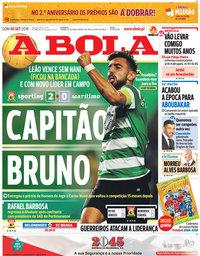 capa Jornal A Bola de 30 setembro 2018