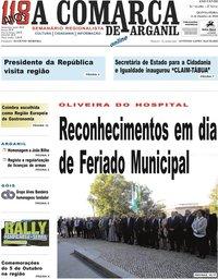 capa Jornal A Comarca De Arganil de 11 outubro 2018