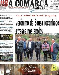 capa Jornal A Comarca De Arganil de 17 outubro 2018