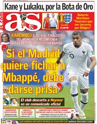 capa Jornal As de 14 julho 2018