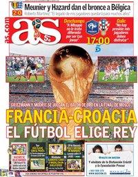 capa Jornal As de 15 julho 2018