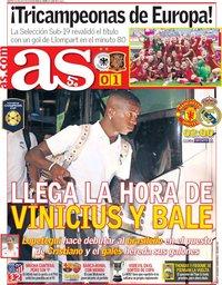 capa Jornal As de 31 julho 2018