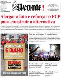 capa Jornal Avante de 5 julho 2018