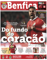 capa Jornal Benfica de 11 fevereiro 2018