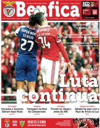 capa Jornal Benfica de 26 abril 2018