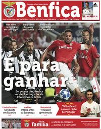 capa Jornal Benfica de 27 agosto 2018