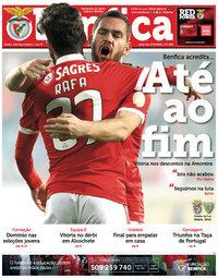 capa Jornal Benfica de 29 abril 2018
