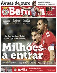 capa Jornal Benfica de 31 agosto 2018