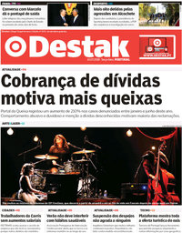 capa Jornal Destak de 10 julho 2018