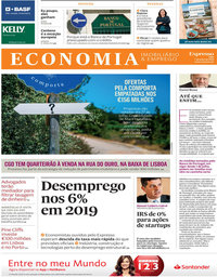 capa Jornal Expresso Economia de 7 julho 2018