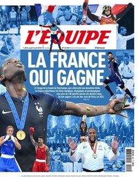 capa Jornal L'Équipe de 2 agosto 2018