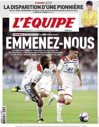 capa Jornal L'Équipe de 2 outubro 2018