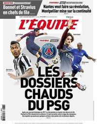 capa Jornal L'Équipe de 3 agosto 2018