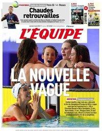 capa Jornal L'Équipe de 4 agosto 2018