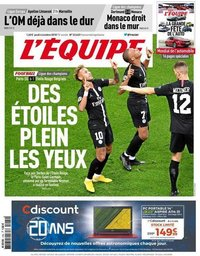 capa Jornal L'Équipe de 4 outubro 2018