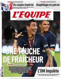 capa Jornal L'Équipe de 5 agosto 2018