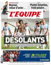 capa Jornal L'Équipe de 5 outubro 2018