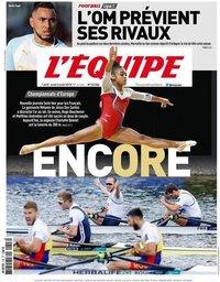 capa Jornal L'Équipe de 6 agosto 2018