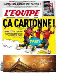 capa Jornal L'Équipe de 6 outubro 2018