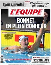 capa Jornal L'Équipe de 7 agosto 2018