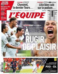 capa Jornal L'Équipe de 7 outubro 2018