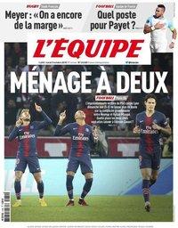 capa Jornal L'Équipe de 9 outubro 2018