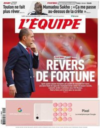 capa Jornal L'Équipe de 10 outubro 2018