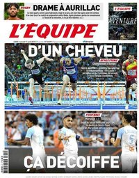 capa Jornal L'Équipe de 11 agosto 2018