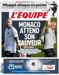 capa Jornal L'Équipe de 11 outubro 2018